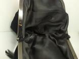 Вечерняя бархатная сумочка с перьями. Высота без ручки 18см. Ширина 12см, фото №11