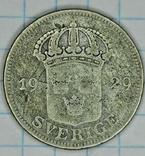Швеция 50 эре 1929 год. Серебро, фото №3