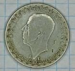 Серебро. Швеция 1 крона 1949 год, фото №3