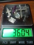 Крестики + ладанка + кулон. 7 шт. Вес: 36.04 гр., фото №10
