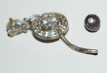 Украшение для пирсинга в подвесом, фианиты/серебро 925 пр. Украина., фото №9