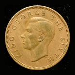 Новая Зеландия 1 пенни 1951, фото №3