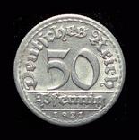 Германия 50 пфеннигов 1921 D, фото №2