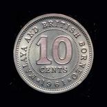 Британская Малайя 10 центов 1961, фото №2