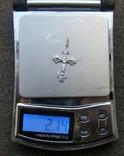 Крестик. Серебро 925 пр. Вес - 2,14 г., фото №2
