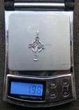 Крестик. Серебро 925 пр. Вес - 1,98 г., фото №2