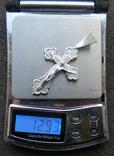 Крестик. Серебро без пробы. Вес - 12,93 г., фото №2