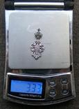 Крестик. Серебро 925 пр. Вес - 3,33 г., фото №2