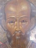 Икона Святой Николай 19век, фото №3