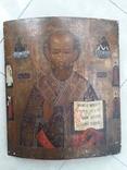 Икона Святой Николай 19век, фото №2