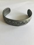 Браслет олово ручная работа маркирован Hand made Denmark старенький, фото №4