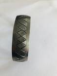 Браслет олово ручная работа маркирован Hand made Denmark старенький, фото №7