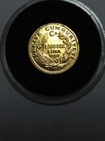 1000000 лир 1997 год Турция золото 1/25 унц.9999, фото №2