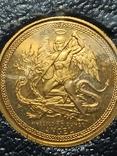 Монета Ангел , остров Мен, 1/10 OZ 9.999, 1986 год, фото №2