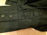 Женская чёрная рубашка CL Essentials. Пуговицы с гравировкой. Вышивка на рукаве, фото №3