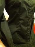 Женская чёрная рубашка CL Essentials. Пуговицы с гравировкой. Вышивка на рукаве, фото №5