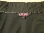 Женская чёрная рубашка CL Essentials. Пуговицы с гравировкой. Вышивка на рукаве, фото №7