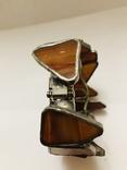 Браслет ручной работы срез сердолика, фото №5