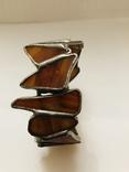 Браслет ручной работы срез сердолика, фото №7