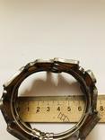 Браслет ручной работы срез сердолика, фото №10