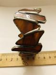 Браслет ручной работы срез сердолика, фото №12