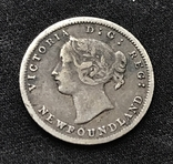 5 cent 1872 года Newfoundland, Канада, фото №4