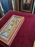 Мощевик-икона Святого преподобного Сергия Радонежского с частицей., фото №8