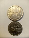 Румыния 1 лей 1966,100 лей 1992 г 2 шт, фото №2