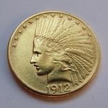 10 долларов 1912 г. США (Индеец), фото №2