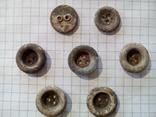 Старинные пуговицы на три и два отверстия, 7 шт., фото №2