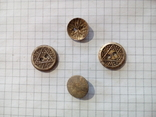 Старинные пуговицы с различными узорами (СССР), 4 шт., фото №3