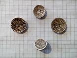 Старинные пуговицы с различными узорами (СССР), 4 шт, фото №2