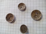 Старинные пуговицы с различными узорами (СССР), 4 шт, фото №5