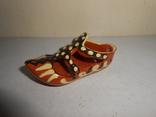 Туфля,пепельница обливная керамика, фото №2