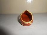 Туфля,пепельница обливная керамика, фото №8