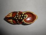 Туфля,пепельница обливная керамика, фото №9