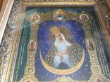 Икона Образ Пресвятой Богородицы Остробрямской в деревянном киоте, фото №3