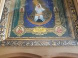 Икона Образ Пресвятой Богородицы Остробрямской в деревянном киоте, фото №4