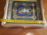 Икона Образ Пресвятой Богородицы Остробрямской в деревянном киоте, фото №5