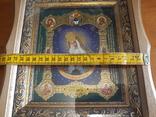 Икона Образ Пресвятой Богородицы Остробрямской в деревянном киоте, фото №6