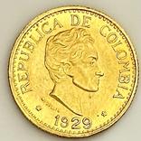 5 песо. 1929. Колумбия (золото 917, вес 7,97 г), фото №4