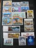 Парусники на марках колоний и разнх стран MNH** в альбоме, фото №4
