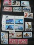 Парусники на марках колоний и разнх стран MNH** в альбоме, фото №6