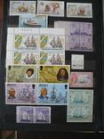 Парусники на марках колоний и разнх стран MNH** в альбоме, фото №12