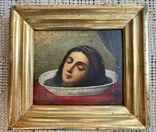 Икона Усекновение Главы Святой Великомученицы Варвары в киоте, фото №3