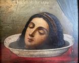 Икона Усекновение Главы Святой Великомученицы Варвары в киоте, фото №4