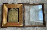 Икона Святители Григорий Богослов,Василий Великий и Иоанн Златоуст в киоте, фото №6