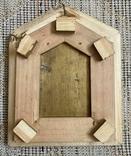 Икона Святых бронза в киоте домиком, фото №7