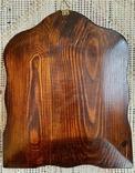Икона Святых бронза в киоте домиком, фото №8