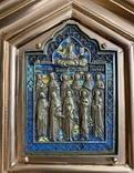 Икона Святых бронза в киоте 3 цвета эмали, фото №4